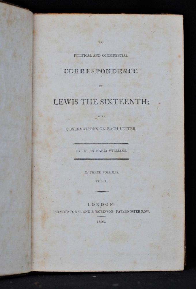 The Politcal and Confidential Correspondence of Lewis the Sixteenth (3