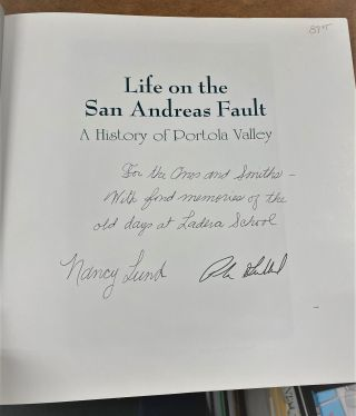 Life on the San Andreas Fault: A History of Portola Valley