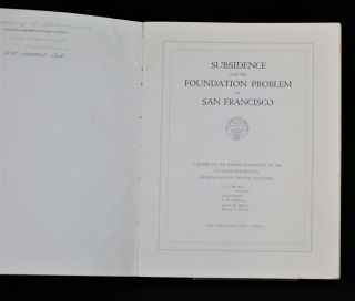 Subsidence and the Foundation Problem in San Francisco