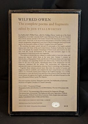 Wilfred Owen: The Complete Poems and Fragments (2 volume set)