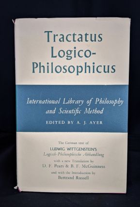 Tractatus Logico-Philosophicus - Internation Library of Philosophy and Scientific Method. A. J. Ayer